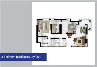 Lay out 2 Bedroom