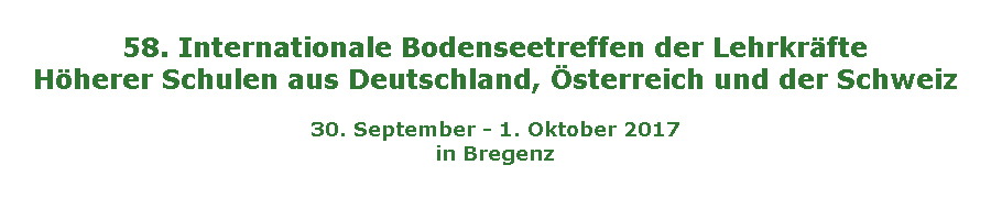 58. Internationales Bodenseetreffen