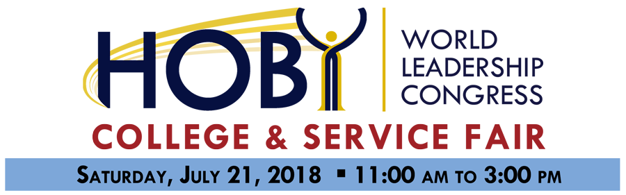 2018 HOBY WLC College & Service Fair