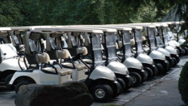 Golf Carts Staged for Tournament
