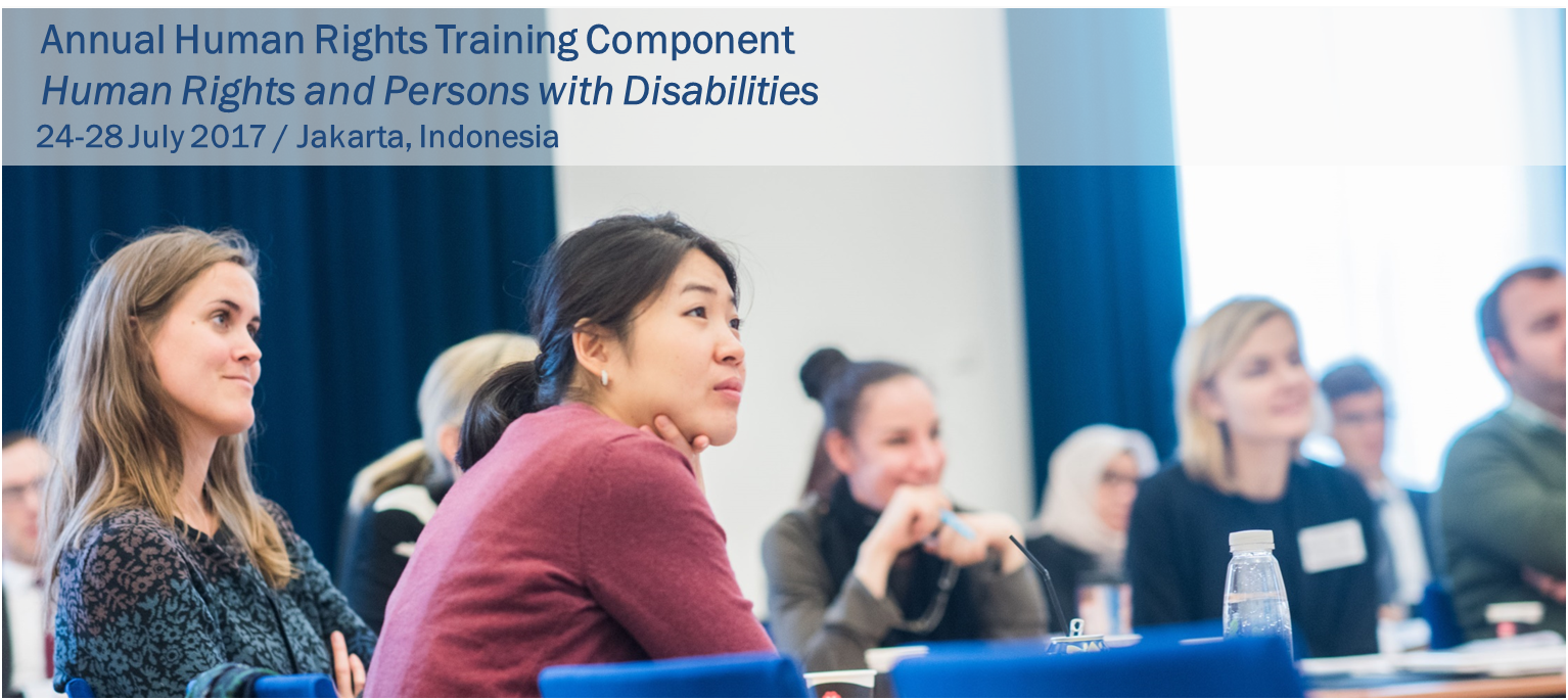 "Online Application - Annual Human Rights Training Component: ""Human Rights and Persons with Disabilities"""