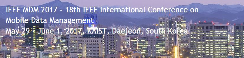 2017 18th IEEE International Conference on Mobile Data Management (MDM)