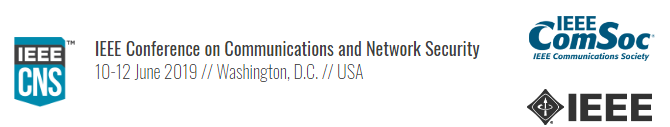 2019 IEEE Conference on Communications and Network Security (CNS)