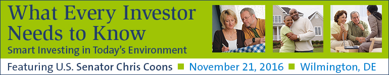 FINRA Investor Forum with Special Guest U.S. Senator Chris Coons