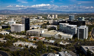 Aerial view of Irvine