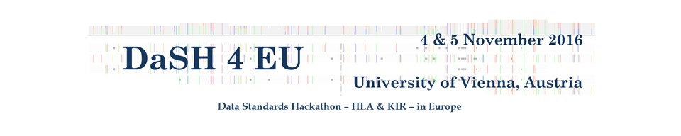 2016 Data Standards Hackathon - HLA & KIR - in Europe