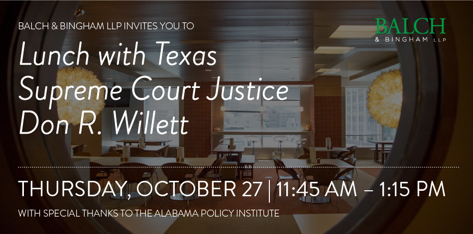 Luncheon with Justice Willett
