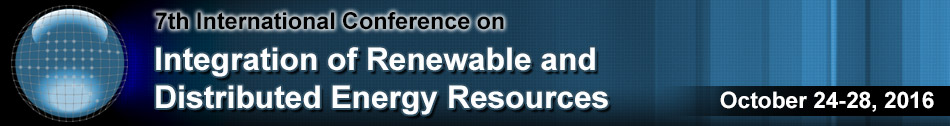 Save the Date: 7th International Conference on Integration of Renewable and Distributed Energy Resources
