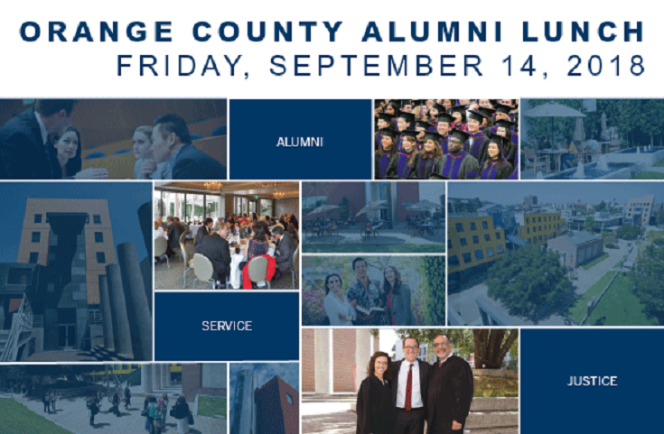 2018 Orange County Alumni Lunch