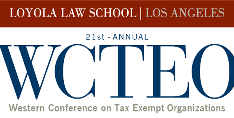 2017 Western Conference on Tax Exempt Organizations