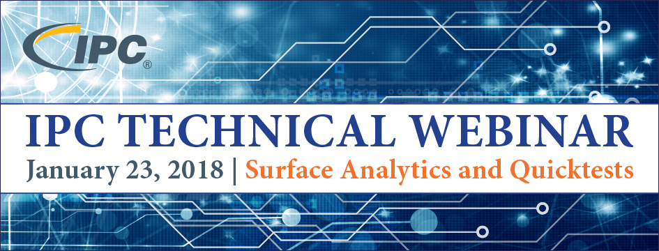 IPC Technical Webinar: Surface Analytics and Quicktests