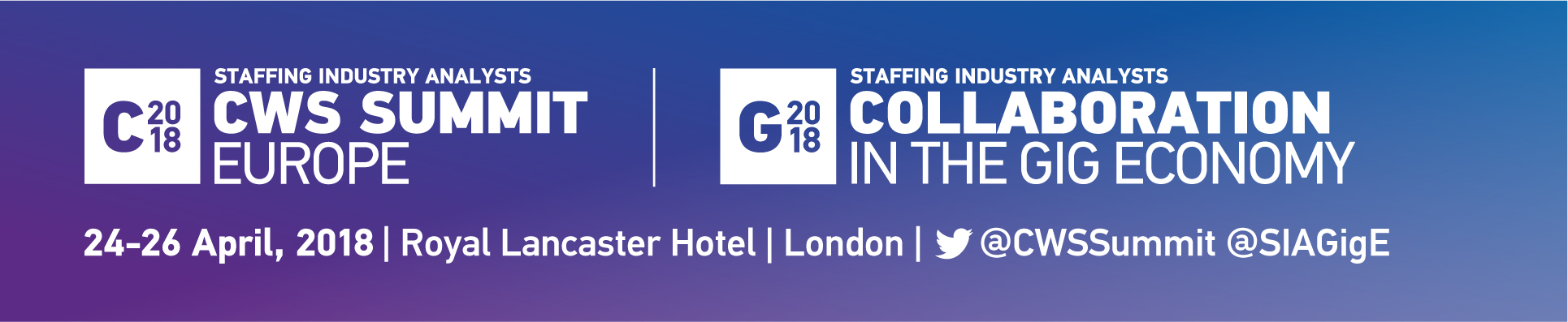CWS Summit Europe & Collaboration in the Gig Economy | 24-26 April 2018 | Royal Lancaster Hotel | Lo