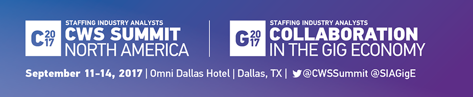 2017 CWS Summit and Collaboration in the Gig Economy - Dallas TX