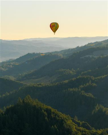 Hot Air Ballooning over Sonoma