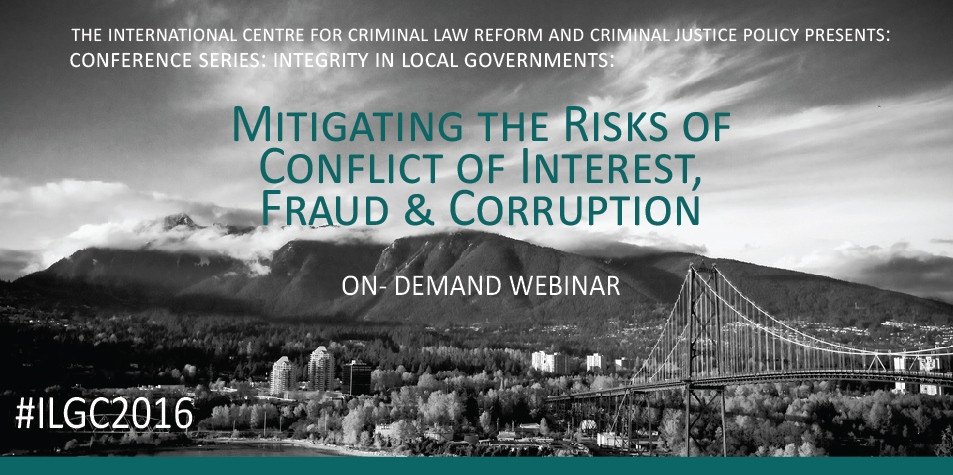 WEBINAR: Integrity in Local Governments: Mitigating the Risk of Conflict of Interest, Fraud & Corruption