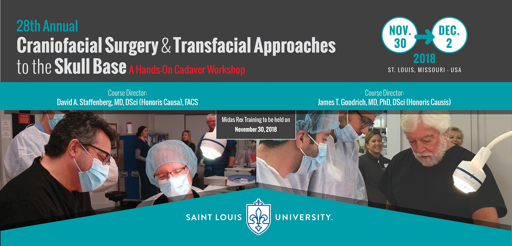 28th Annual Craniofacial Surgery and Transfacial Approaches to the Skull Base