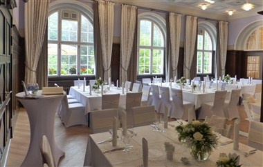 Great Hall prepared for a wedding party