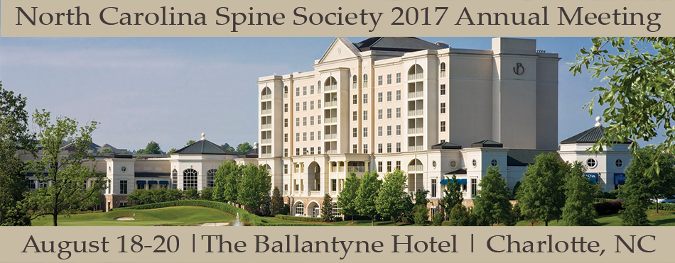 North Carolina Spine Society 2017 Annual Meeting