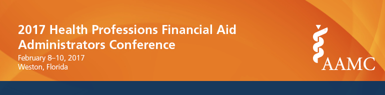 2017 Health Professions Financial Aid Administrators Conference