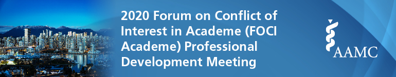 2020 Forum on Conflict of Interest in Academe (FOCI) Annual Meeting