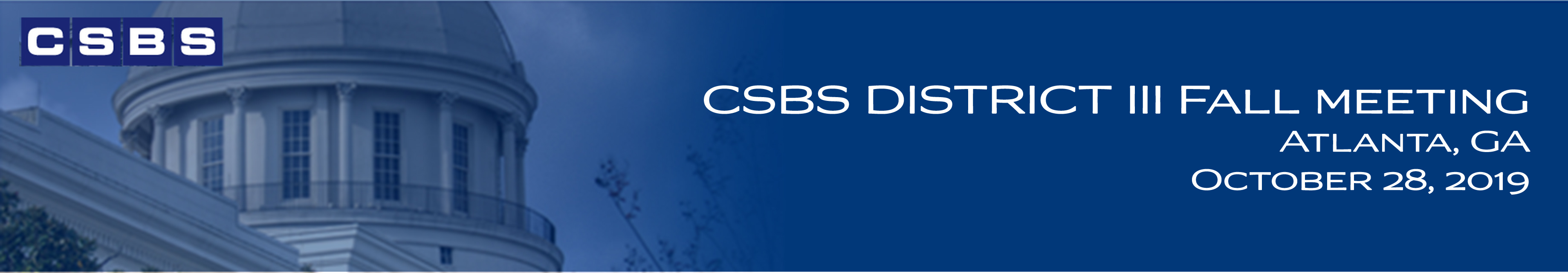 2019 CSBS District III Fall Meeting