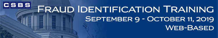 Fraud Identification Training (September 9 - October 11)