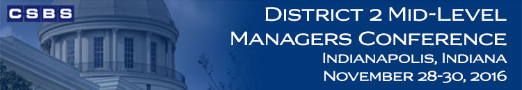 CSBS District 2 Mid-Level Managers Conference