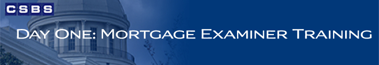 Day One: Mortgage Examiner Training