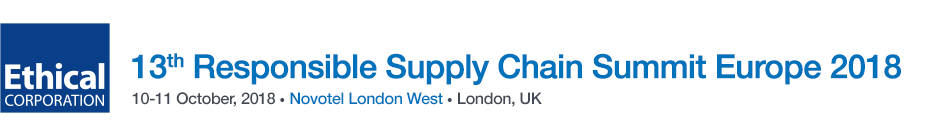 13th Annual Sustainable Supply Chain Summit Europe 2018