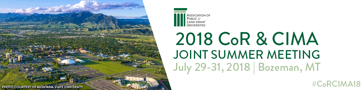 2018 CoR & CIMA Joint Summer Meeting