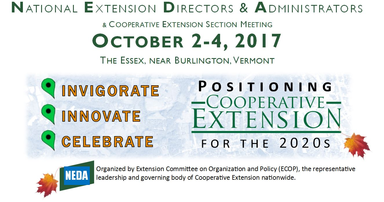 2017 National Extension Directors and Administrators (NEDA) and Cooperative Extension Section Meeting