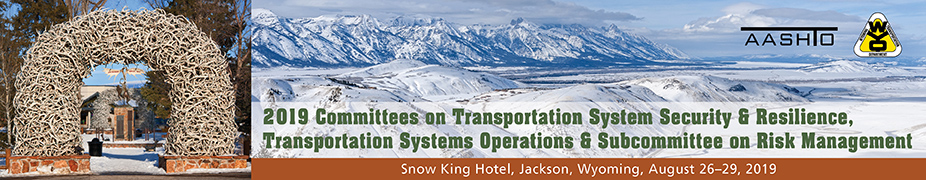 Joint Meeting of 2019 AASHTO  Committees on Transportation System Security & Resilience, Transportation Systems Operations & Subcommittee on Risk Management