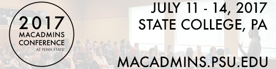 2017 MacAdmins Conference at Penn State