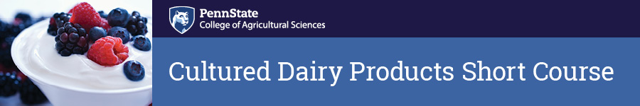 Cultured Dairy Products Short Course