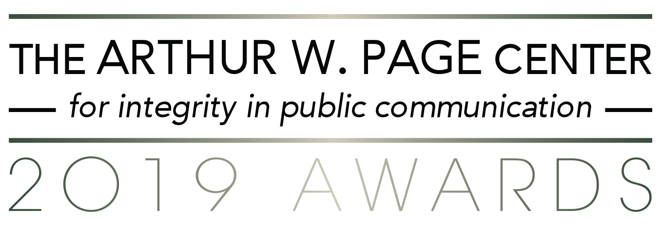 The 2019 Arthur W. Page Center Awards for Integrity in Public Communication