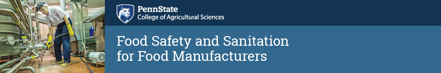 Food Safety and Sanitation for Food Manufacturers 2020