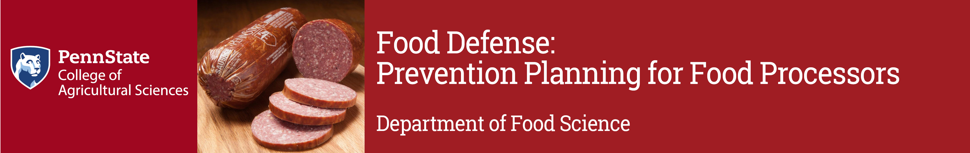Food Defense - Prevention Planning for Food Processors