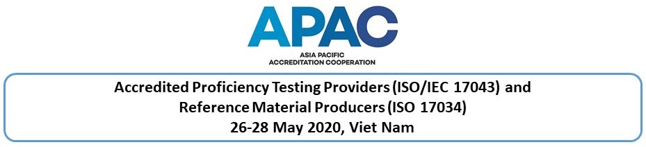 ISO 17034 RMP and ISO/IEC 17043 PT accreditation, TBA 2021, Viet Nam