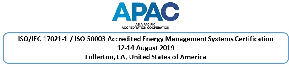 ISO/IEC 17021-1 / ISO 50003 Accredited Energy Management Systems Certification, Fullerton, CA, USA
