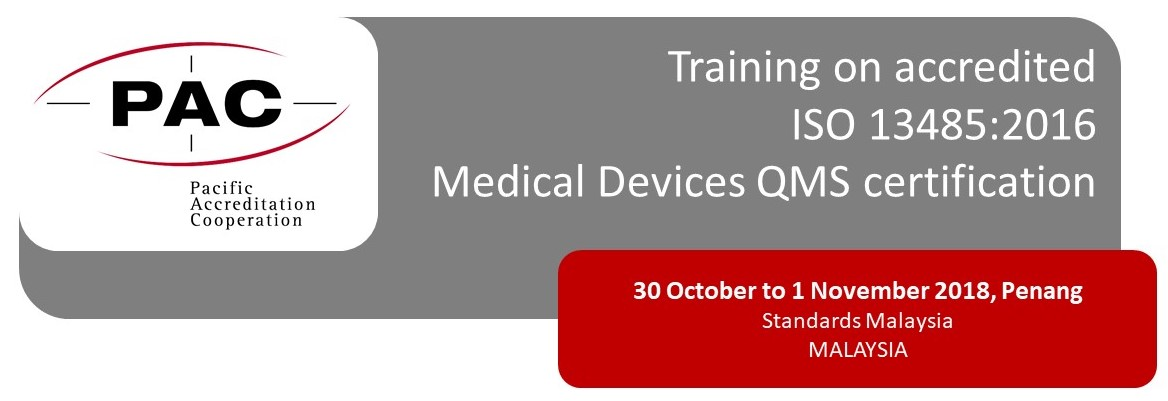 PAC Training on Accredited ISO 13485 Medical Device QMS Certification