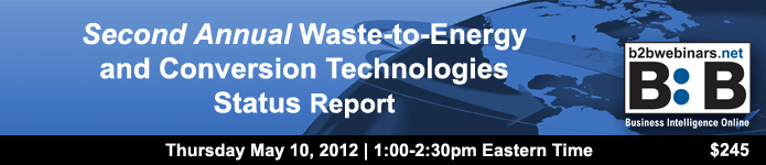 Webinar: Second Annual Waste-to-Energy and Conversion Technologies Status Report