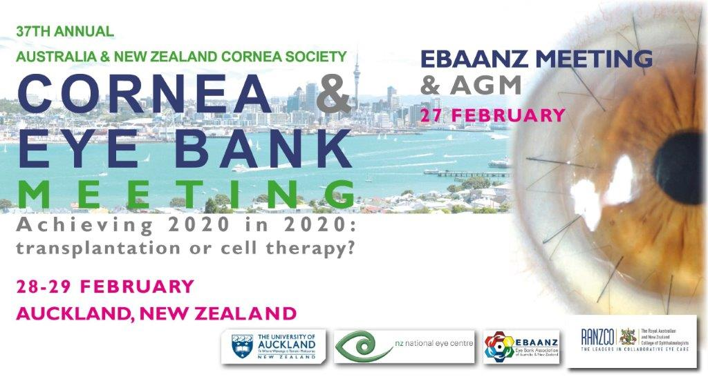 Australia and New Zealand Cornea Society Cornea & Eye Bank Meeting 2020