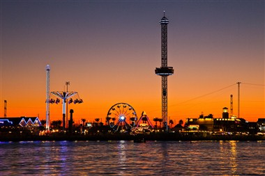 Kemah Boardwalk at Sunset