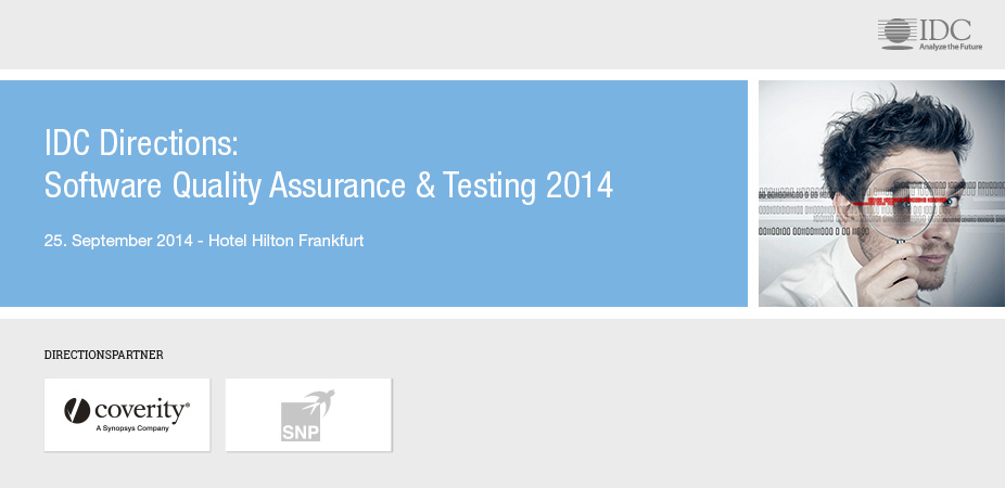 IDC Directions: Software Quality Assurance & Testing 2014 - Germany