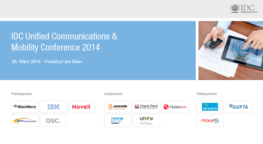 IDC Unified Communications & Mobility Conference 2014 - Germany