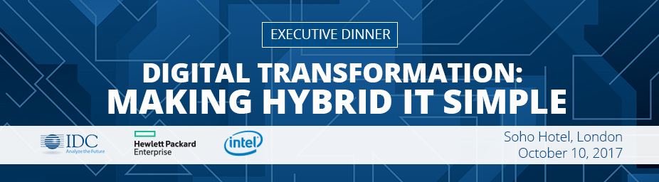 IDC, HPE and Intel Executive Dinner