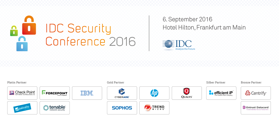 IDC Security Conference 2016 - Germany