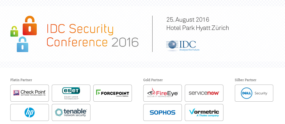 IDC Security Conference 2016 - Switzerland