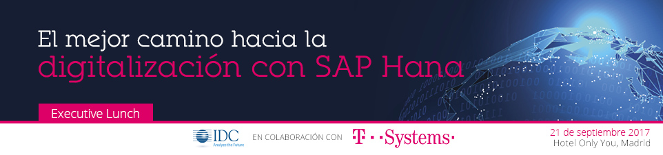 IDC T-Systems Executive Lunch Madrid  -21 de Septiembre-