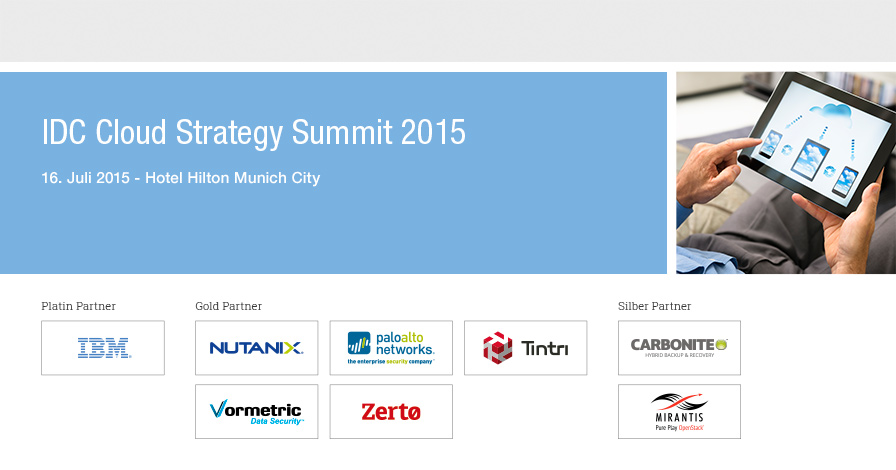 IDC Cloud Strategy Summit 2015 - Germany